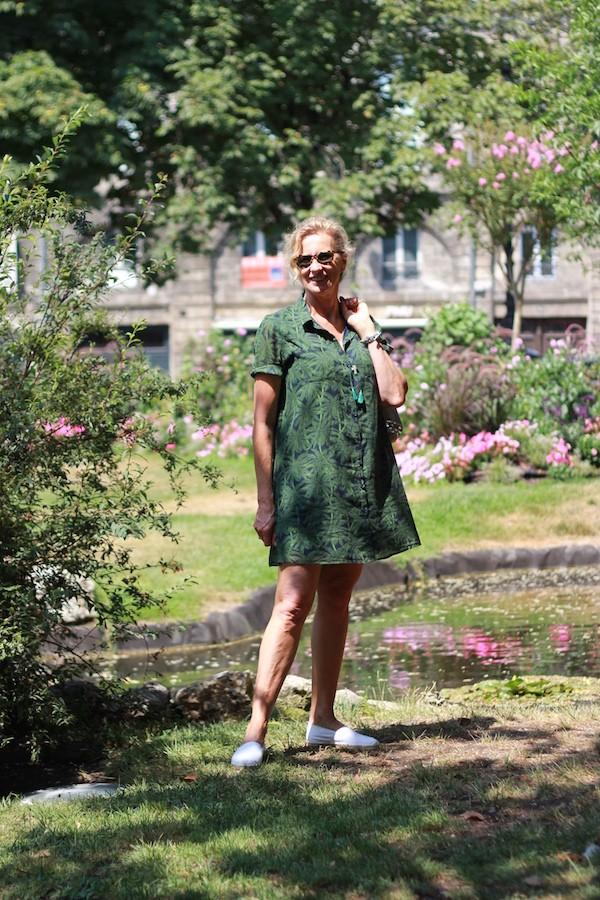 robe été IDANO bleue et verte