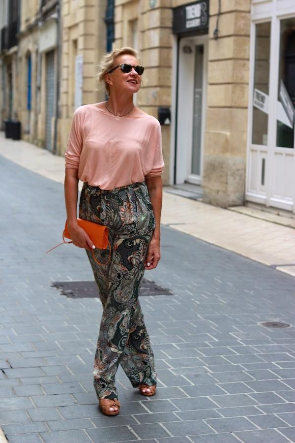 Pantalon kaki imprimé cachemire Zara