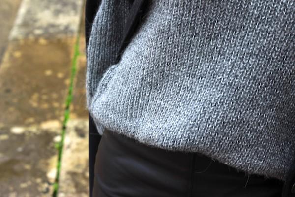 pull gris et dentelle VILA