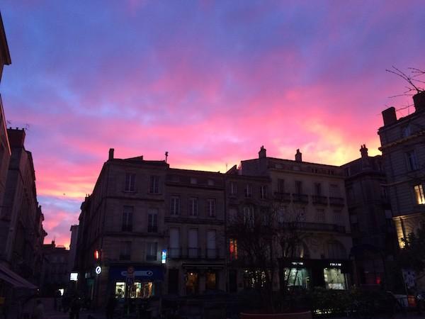 Bordeaux ciel rose