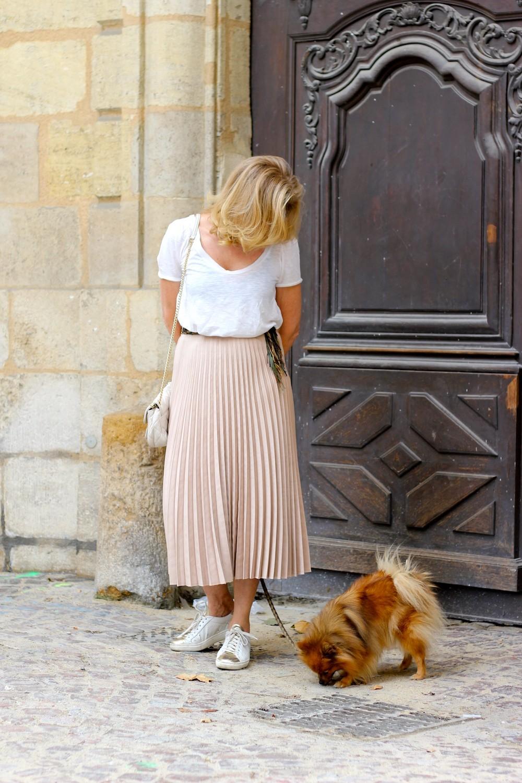 Le cas pineux de la jupe longue pliss e blog enfin - Quel haut porter avec une jupe longue ...