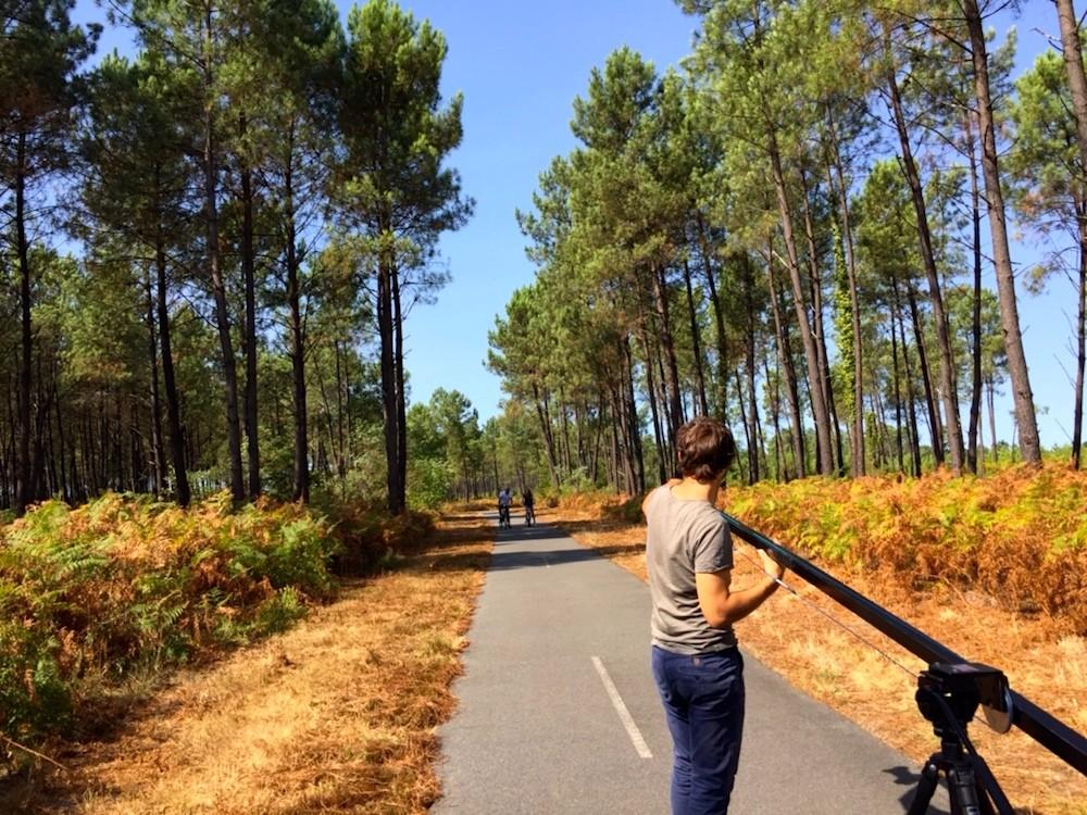 Les Landes piste-cyclable