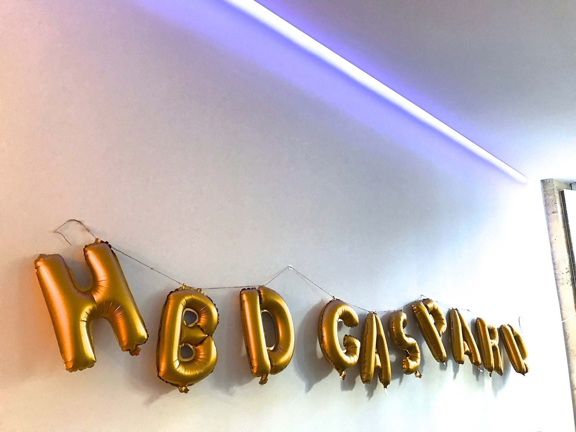 HBD GASPARD 1 AN