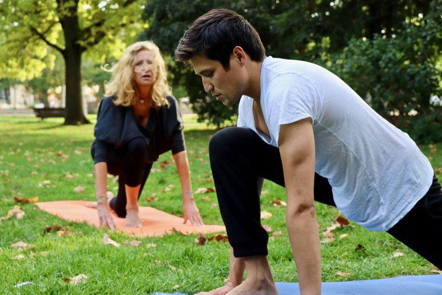 Hatha yoga au jardin public !