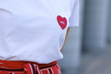 TEE SHIRT LOVE OH LES JOLIS