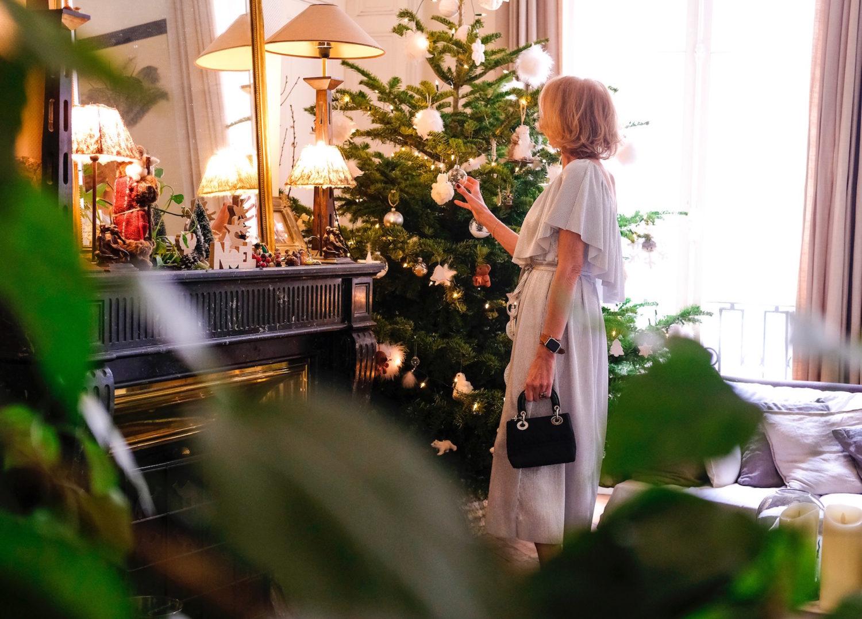 En robe argent pour Noël !