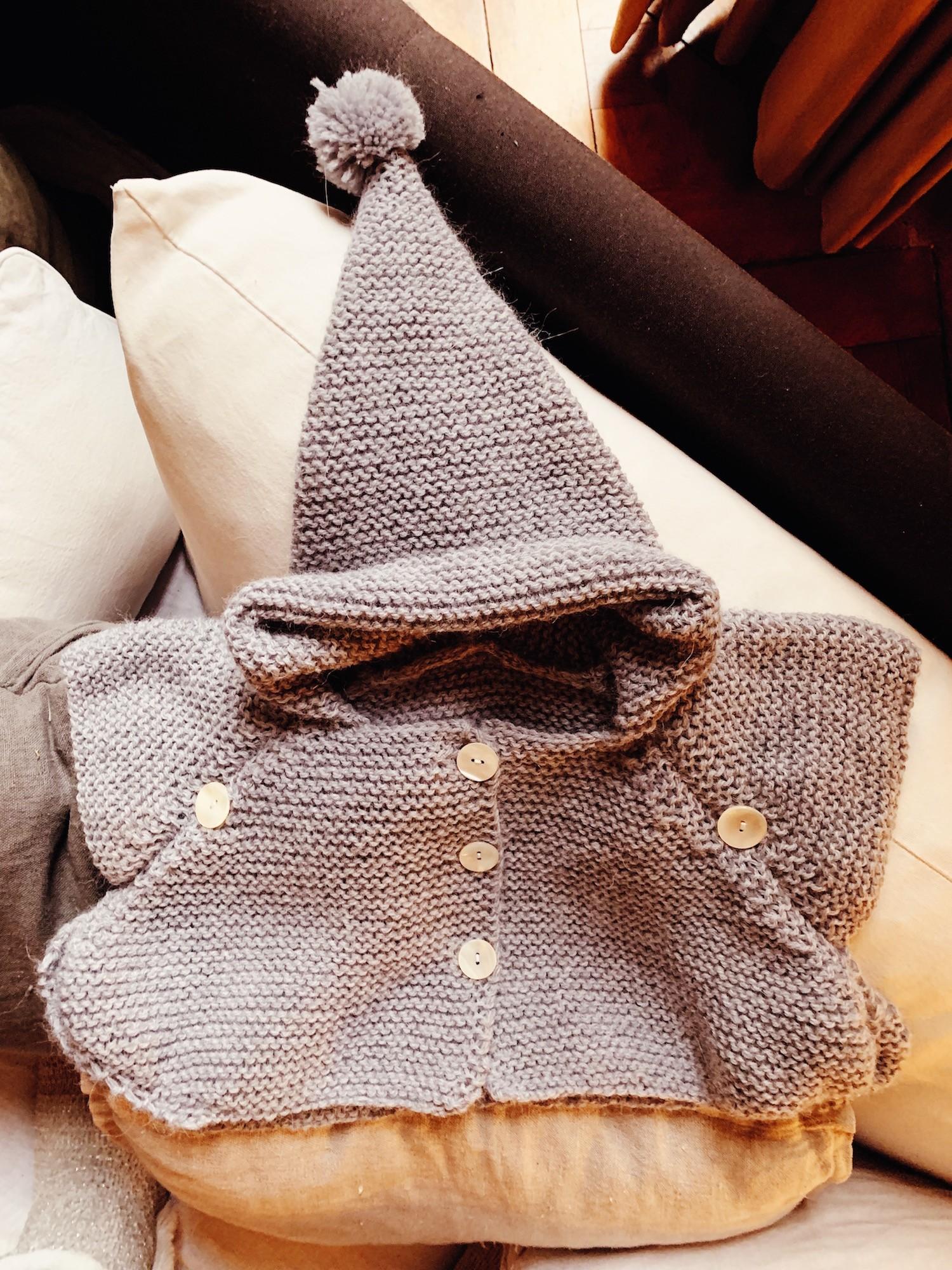PONCHO BABY TRICOT DIY
