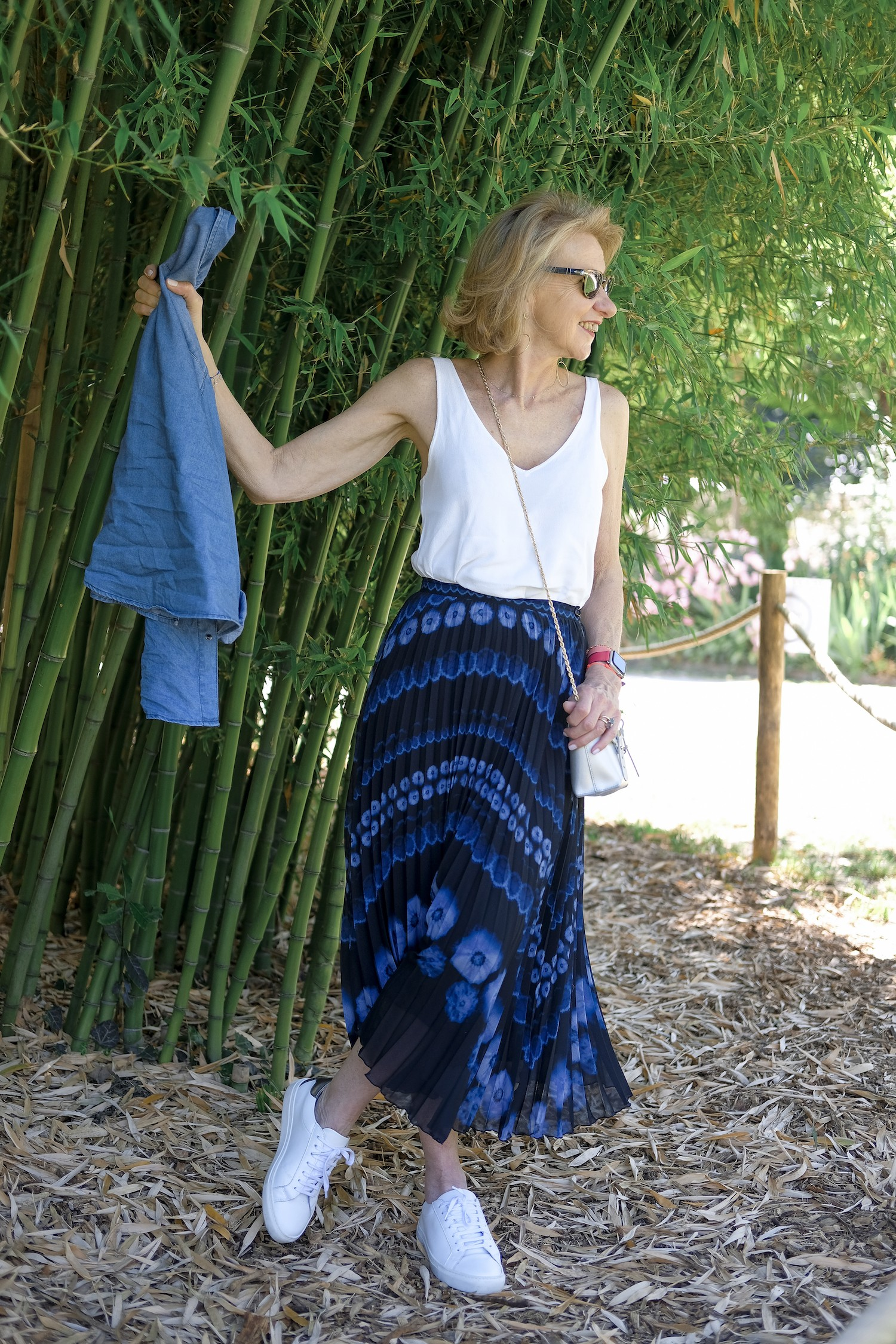 JUPE LONGIUE BLEUE TIE AND DYE