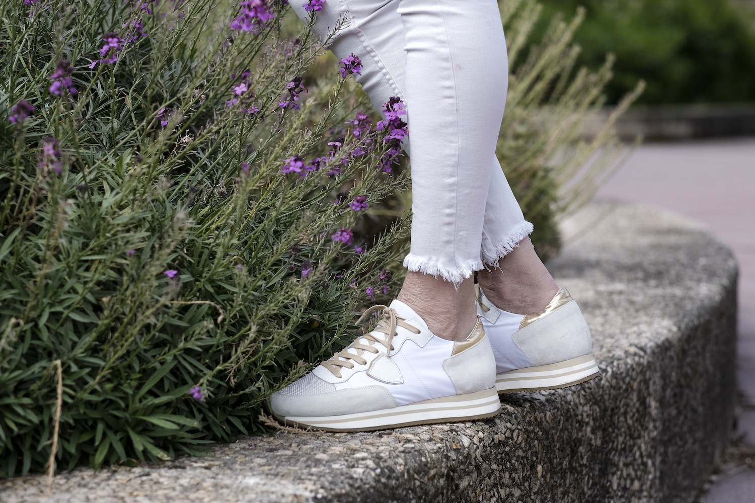 BASKETS TOILE ET CUIR PHILIPPE MODEL SPARTOO